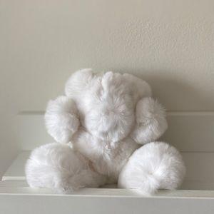 YVES SALOMON White Rabbit Bear Keychain